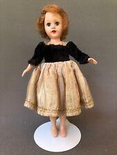 Vintage Original Richwood Sandra Sue DRESS only Gold Stripes Black Velvet Bodice