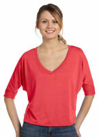 Bella + Canvas Women's Half Sleeve V Neck Length Casual T-Shirt. 8825