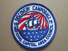 Discovery Camporall 1975 BSA Woven Cloth Patch Badge Boy Scouts Scouting