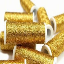 Gold Metallic Embroidery Thread Length 60m X Width 0.4mm per Reel Hand Sewing 1