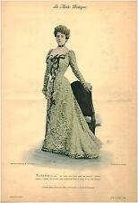 Publicité ancienne  la mode pratique toilette du soir satin No 49 1899