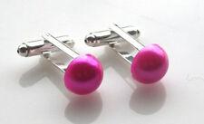 Pink Plastic Cufflinks for Men