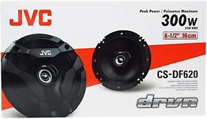 "JVC 6.5"" 2-Way 300W Flush Mount Coaxial  Speakers (2 Pack) - CS-DF620"