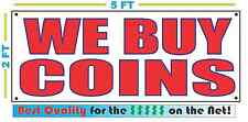 WE BUY COINS Banner Sign NEW