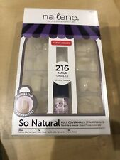 Fing'rs Nailene Full Cover Nails, Active Square with Glue 216 So Natural