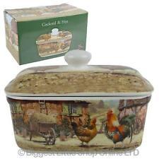 NEW Classic Cockerel & Hen Butter Dish by Leonardo Farming Handy Kitchen GiftBox