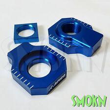 Apico Rear Axle Spindle Adjuster Blocks Husqvarna FE 250 350 450 501 14-17 Blue
