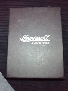 Very Clean Diamond Special Ingersoll Gold Plated Stainless Steel Watch..