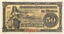 México  50  Centavos  1.7.1915  M 2806  Series  A  Uncirculated Banknote LBD
