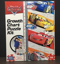 Disney Pixar Cars Growth Chart Puzzle Kit 50 Pieces by MEGA Puzzles Brand New 6+