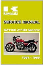 KAWASAKI Workshop Manual KZ1100 Z1100 Spectre LTD Shaft 1981 1982 1983 1984 1985