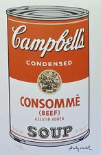 ANDY WARHOL CAMPBELL'S SOUP I CONSOMME BEEF SIGNED + HAND NUMBERED LITHOGRAPH