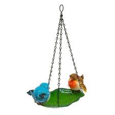 Rotkehlchen & blau TiT Wandbehang Garten Vogelbad Dosieranlage Metall klein mini