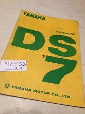 Yamaha 250 DS7 additif manuel atelier workshop manual éd. 70