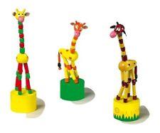 Animali a pressione Giraffa in legno, set da 3. idea regalo bomboniera battes...