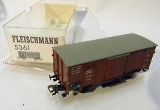5361 Fleischmann Gedeckter Güterwagen DR braun Eisenbahn 1:87 in OVP modeltrain