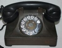 RARE METAL North Electric Galion Art Deco Desk Top Rotary Dial Pyramid Telephone