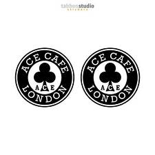 2 Pegatinas Ace Cafe London Rocker Racer moto Leatherboys bike stickers