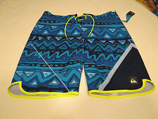 Quiksilver boardshorts 38 board swim shorts trunks Men's AG47 New Wave 38x20 NEW