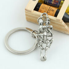 Key Ring Key Chain Unisex Gift Fashion Creative Alloy Rhinestone Metal Skeleton