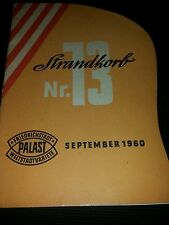 Programmheft Strandkorb Nr. 13 Friedrichstadt Palast September 1960
