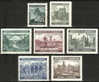 DR Nazi 3rd Reich Rare WW2 Stamp Hitler's Castles Towers Church Czech Occupation