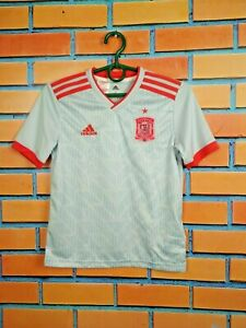 Spain Jersey 2018 2019 Away Kids Boys 9-10 y Shirt Football Adidas BQ8868
