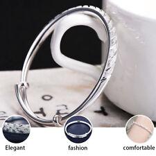 2PCS 925 Sterling Silver Bangle Bracelet Charm Ladies Womens Jewellery Xmas Gift