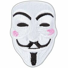 Cute V for Vendetta Mask Face Anonymous Fawkes Movie Iron-On Patches #CM014