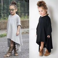 Autumn Toddler Baby Girls Long Sleeve T-Shirt Clothes Tops Princess Dress 2-6Y