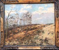 Tableau ancien paysage