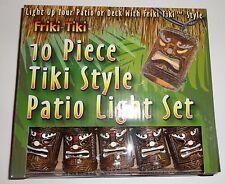 Friki-Tiki 10 Piece Tiki Style Patio / Deck String Light Set
