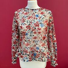 Primark Poppy Floral Eyelet Peplum Blouse With Flared Waist | 10 |