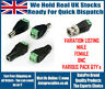 12V DC CCTV Male Female Power BNC Balun Connector Adapter Plug Jack Socket UK