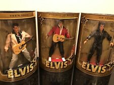 3  Elvis Presley Collector Dolls. Jailhouse Rock, 68 Special and Teen Idol. NIB