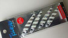 Tsuribi Carnada Metal Micro Jig Fishing Lure 21g 58mm 4pcs Set LUMO Strap