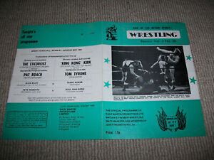 British wrestling programme (Clive Myers, Caswell Martin, Wembley - 18/5/81)