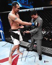 Tony Ferguson Signed UFC 8x10 Photo BAS Beckett COA Picture w/ Joe Silva Auto'd