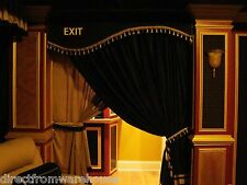VELVET HOME THEATER EXIT CURTAIN VALANCE HAND CRAFTED DOOR CORNICE YOUR OWN LOGO