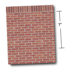 """1/4"""" Scale Dollhouse Wallpaper - A Ton of Bricks w/Free Embossing Tool (1:48)"""