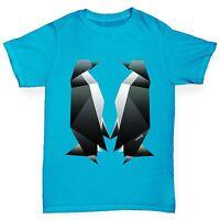 Twisted Envy Boy's Origami Penguins Premium Cotton T-Shirt