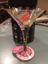 Brand New Lolita Hand Painted Martini Glass In A Box Collectible