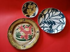 KANI of  HAWAII  FLOWER PLATE TOMMY BAHAMA OCEAN BLUE TIKI BAR  LUAU BLACK BOWL