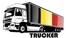International trucker camionneur & belgique pays drapeau voiture camion autocollant