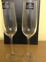 BOXED DARTINGTON BRAND NEW PAIR OF GLASS CHAMPAGNE FLUTES