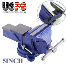 """5"""" Bench Vise Heavy Duty Clamp 360 Swivel Locking Base Crafts Vice Home Tool"""