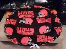 Handmade Pet/Dog Bed CLEVELAND BROWNS Fleece Bed Washable Made in USA