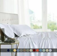 All Sizes Bamboo Bed Sheet Set 6 PCS Deep Pocket Natura Ultra Soft Cool Bedding