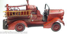 LARGE  FIRE ENGINE TRUCK  36cm  COLLECTIBLE VINTAGE STYLE Tin Plate Hand Made