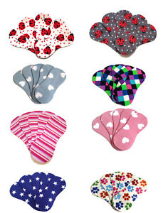 Fleece Nappy Liners Reusable Washable For Cloth Nappies Various Designs x5